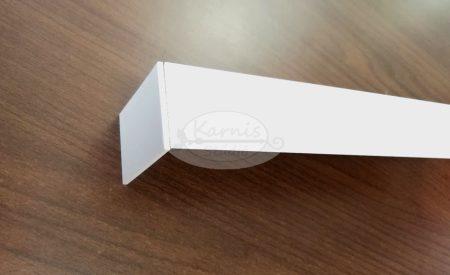 Easy Line fehér színű 2 soros előlapos mennyezeti alumínium sín