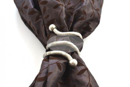 Flexi formázható matt-króm színű fém függönyelkötő