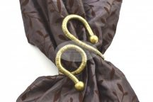 Flexi formázható óarany színű fém függönyelkötő