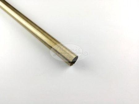 Óarany színű fém karnisrúd 16 mm átmérőjű