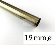 Óarany színű fém karnisrúd 19 mm átmérőjű