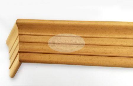 Klassik 3 sínes bükk színű előlapos fa karnis mennyezetre