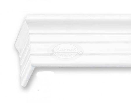 Klassik 1 sínes fehér színű előlapos fa karnis oldalfalra