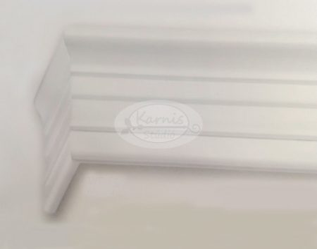 Klassik 2 sínes fehér színű előlapos fa karnis oldalfalra