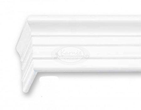 Klassik 3 sínes fehér színű előlapos fa karnis mennyezetre