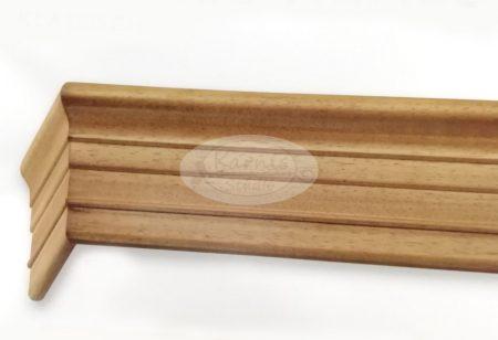 Klassik 3 sínes tölgy színű előlapos fa karnis mennyezetre