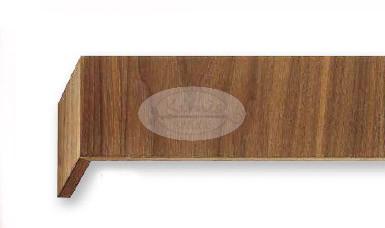 Niveau 2 sínes dió színű előlapos fa karnis oldalfalra