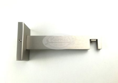 Fali tartókonzol 1 sínes matt ezüst alumínium profil karnishoz