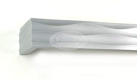 Vulcano 1 sínes ezüst színű előlapos fa karnis oldalfalra