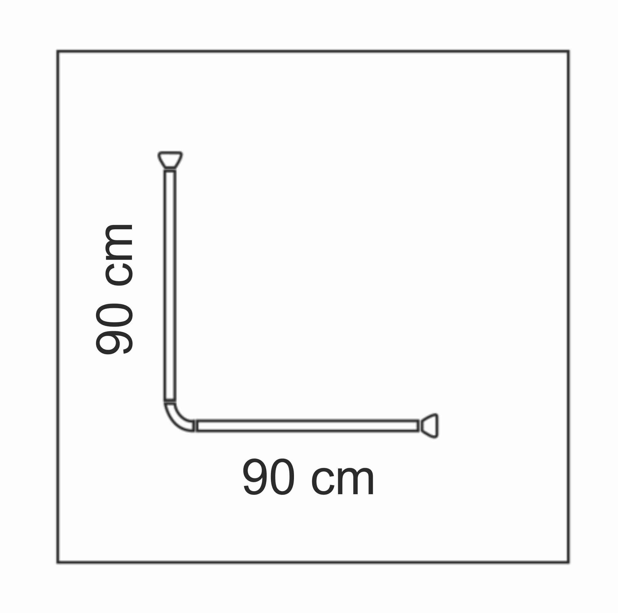 90x90 cm-es zuhanyfüggöny tartó, zuhanykarnis