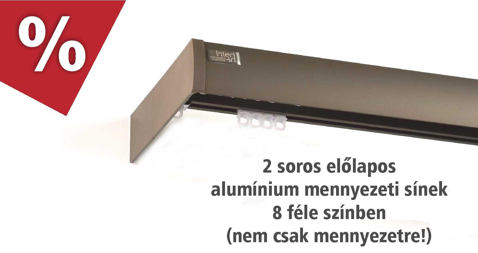 2 soros előlapos alumínium függönysínek februárban kedvezményes áron - www.karnisstudio.hu