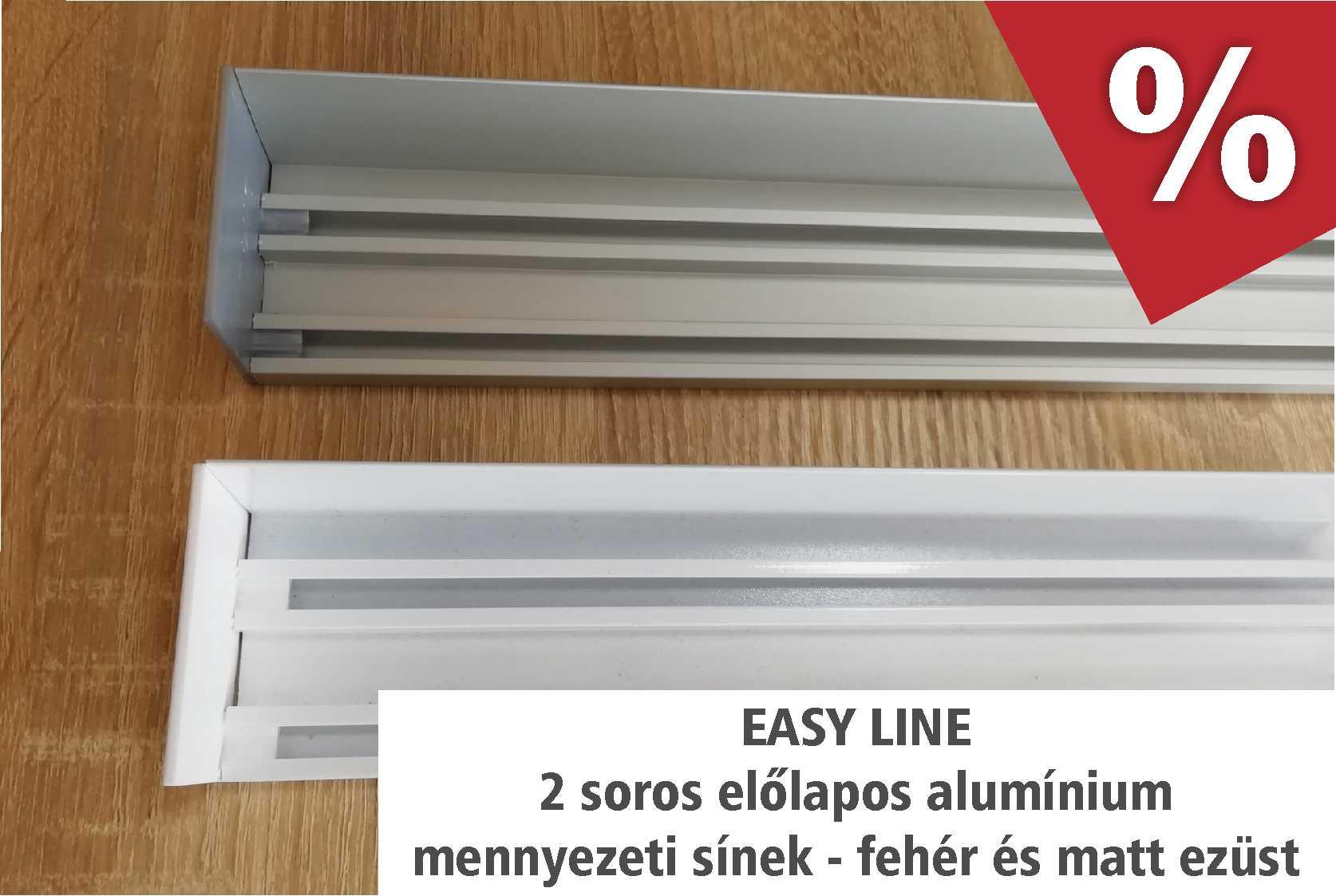 Easy Line előlapos alumínium függönysínek- akciós áron áprilisban - www.karnisstudio.hu