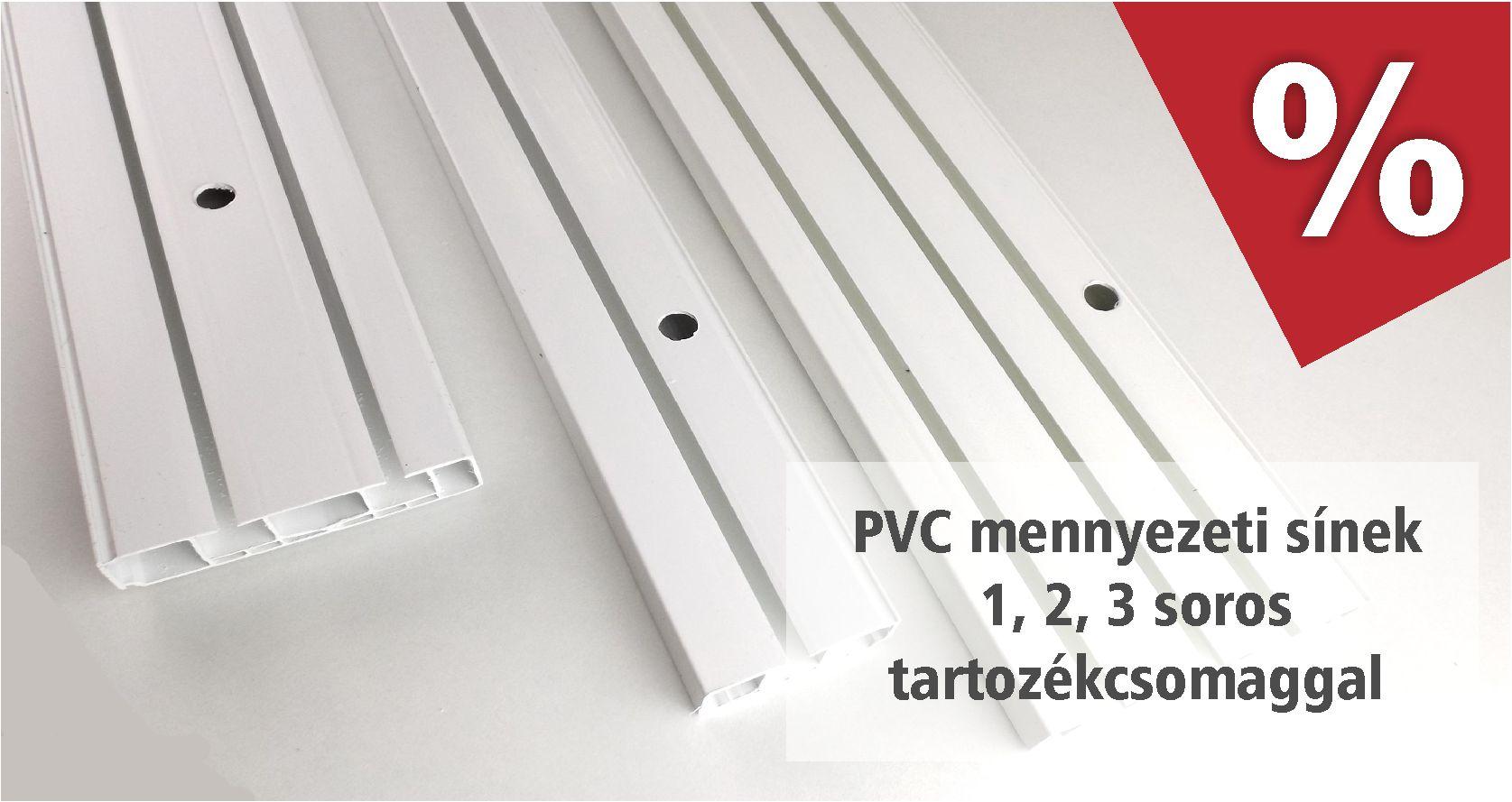PVC mennyezeti sínek 1, 2 és 3 soros változatban, több méretben akciós áron áprilisban - www.karnisstudio.hu