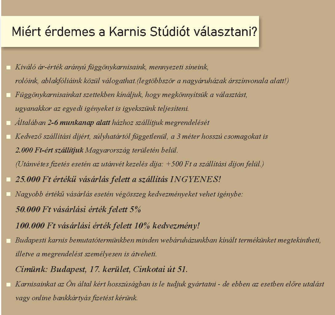 Miért érdemes a Karnis Stúdiót választani?