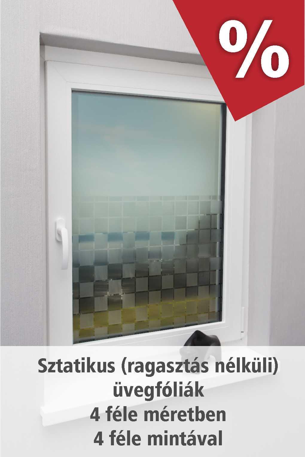 Ablakfóliák 4 méretben 4 féle mintával szeptemberben akciós áron - www.karnisstudio.hu