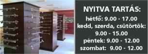 Karnis Stúdió webáruház és bemutatóterem - nyitva tartás